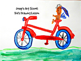 Kids Drawing Lesson: Bird on a Bike Cartooning Line Drawin