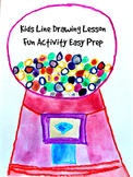 Kids Drawing Lesson: Bubble Gum Machine Directed Line Draw