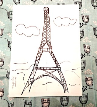 Kids Drawing Lesson Eiffel Tower Directed Line Drawing Series