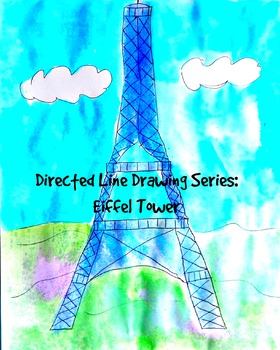 Kids Drawing Lesson: Eiffel Tower Directed Line Drawing Series