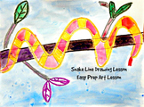 Kids Drawing Lesson Snake Directed Line Drawing Series Easy Prep Fun Activity