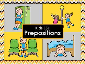 Kids Esl Beginner Prepositions By Around The World