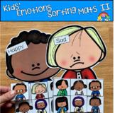 Kids' Emotions Sorting Activities Set 1