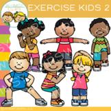 Kids Exercise Clip Art - Set Two