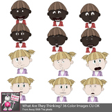 Kids Expressions and Emotions Clip Art 36 Color Images Com