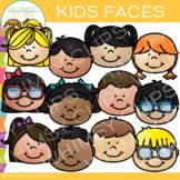 Kids Faces Clip Art