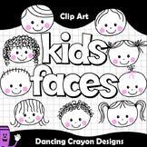 Kids Faces - Clip Art Kids