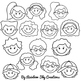 Kids Faces Clipart