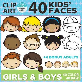 Kids Faces / Kids Heads Clip Art