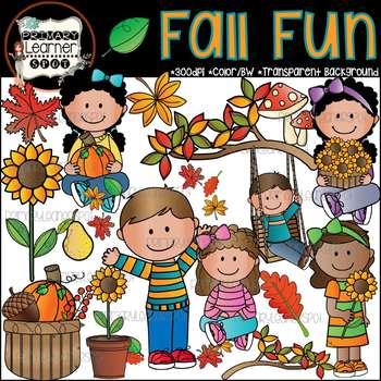 Kids Fall Fun {Fall Season Clipart}