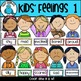 Kids Feelings Faces Clip Art Bundle - Chirp Graphics