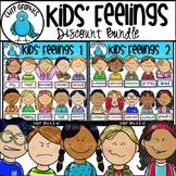 Kids Feelings Faces Clip Art Bundle - Chirp Graphics