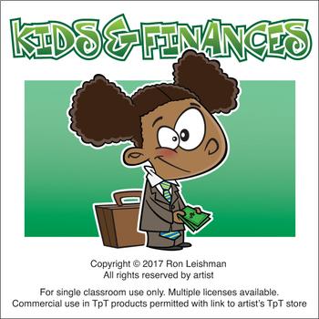 Kids & Finances Cartoon Clipart