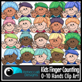Kids Finger Counting 0-10 Hands Clip Art - Kids Faces Clip Art