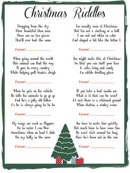Christmas Riddles For Kids.Kids Fun Christmas Riddle Game