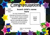 Graduation Certificates- Kindergarten - Preschool - Editable
