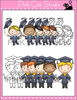 Kids Graduation Clip Art - Personal & Commercial Use