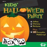 Kids Halloween Party Activity Book & Digital Music Download