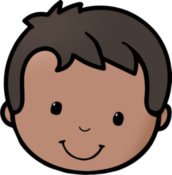 Kids Happy Faces 1 Clip Art by Whimsy Workshop Teaching | TpT