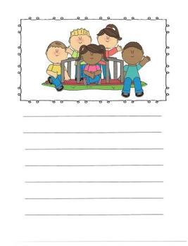 Kids Having Fun Writing Journal