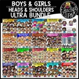 Kids Heads & Shoulders Clip Art Ultra Bundle {Educlips Clipart}