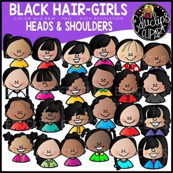 Kids Heads & Shoulders Clip Art Ultra Bundle {Educlips Clipart}