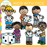 Kids Holding Dice: Math Clip Art