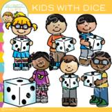 Kids Holding Dice: Math Clip Art
