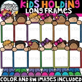 Kids Holding Long Frames Clipart {Kids Clipart}