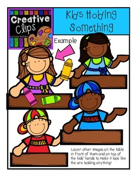 Kids Holding Something {Creative Clips Digital Clipart}