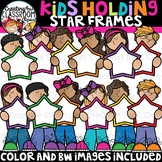 Kids Holding Star Frames Clipart {Kids Clipart}