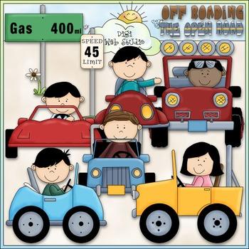 Kids In Cars Clip Art - Cars & Jeeps Clip Art - CU Clip Art & B&W