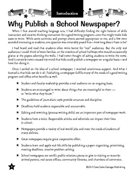 Kids In Print: Publishing a School Newspaper
