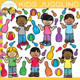 Kids Juggling Clip Art