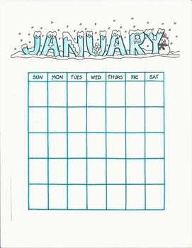 Kids Just Wanna Have Fun…Monthly Calendar Blanks