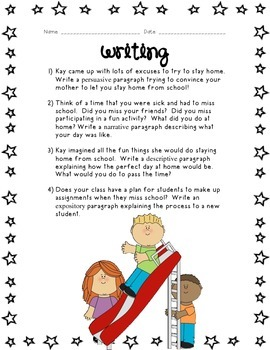 Kids Like Me!  Kay's Story: Reading Comprehension and Writing Skills