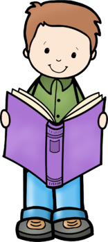 Kids Love Books Clip Art