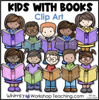 Kids Love Books Clip Art - Whimsy Workshop Teaching