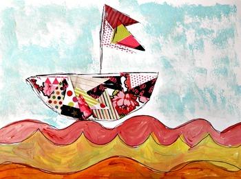 5 Pack Art Lessons Bundle Books and Art Project Close Reading Common Core ELA