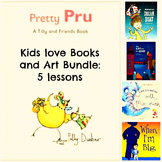 5 Pack Art Lessons Bundle Books and Art Project Close Read
