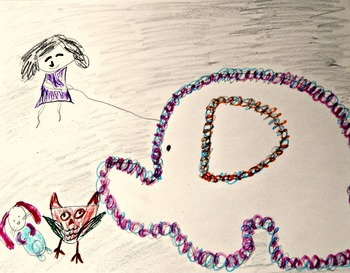 Art and Literacy Project Little Lou & the Woolly Mammoth  K-3 Free Draw ELA