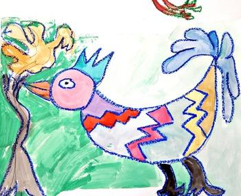 Art and Literacy Project: Pretty Pru Silly Birds Fun Stuff