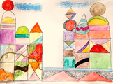 Art Lesson Paul Klee Grade K-6 Castle and Sun History Biog