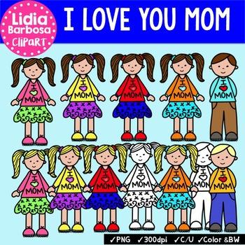 Kids Love Mom {Clip Art for Teachers}