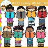 Kids Love Reading Clip Art
