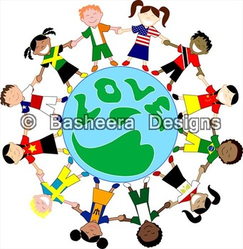Kids Love World Globe with Flag Shirts