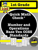 Kid's Math Talk - 1st Grade Quick Check for Number and Ope