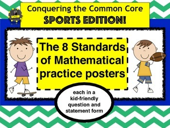 Kid-Friendly Math Practices Posters- SPORTS EDITION!