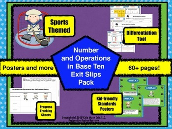 Kid's Math Talk - Number and Operations in Base Ten Pack! {Sports Themed}
