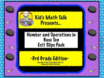 Kid's Math Talk - Number and Operations in Base Ten Pack!
